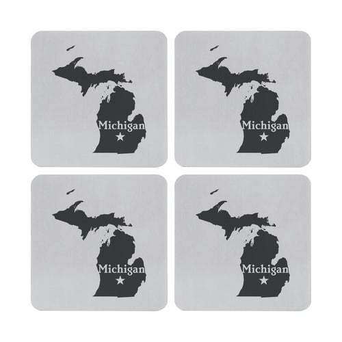 Supreme Stainless Steel 4-Piece Michigan Coaster