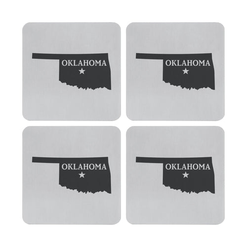 Supreme Stainless Steel 4-Piece Oklahoma Coaster