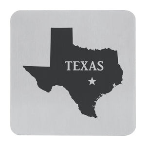 Supreme Stainless Steel 4-Piece Texas Coaster