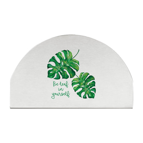 Supreme Stainless Steel Monstera Napkin Holder
