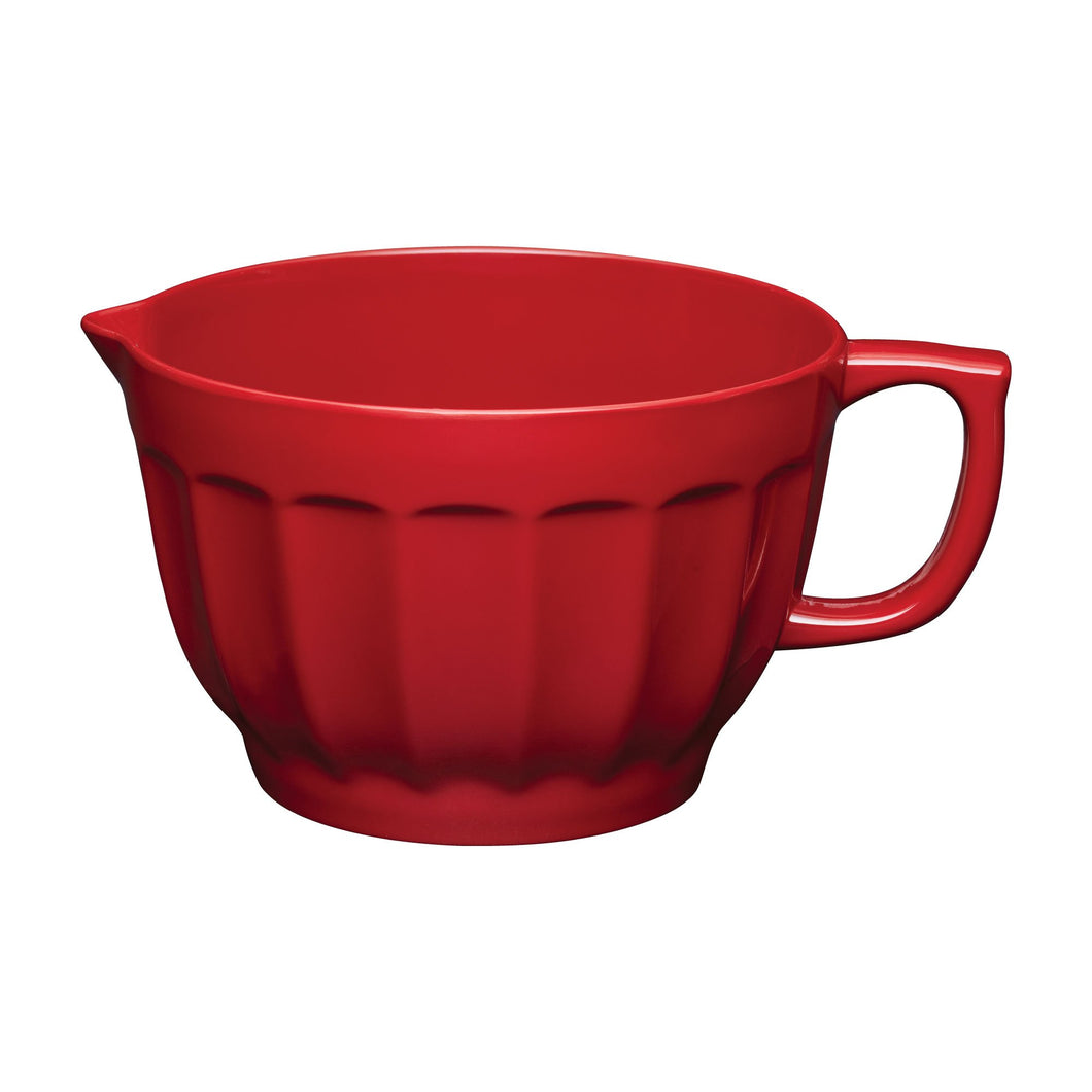 Gourmet Art Latte Melamine 4.3 qt. Batter Bowl, Red