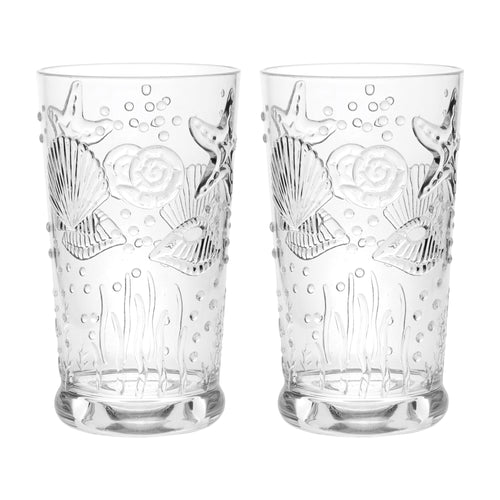 Gourmet Art 2-Piece Sealife Acrylic DOF Tumbler, 19 oz.