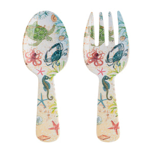 Gourmet Art 2-Piece Sealife Melamine Salad Server