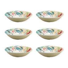 Load image into Gallery viewer, Gourmet Art 6-Piece Sealife Crab Melamine 8 Bowl
