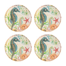Load image into Gallery viewer, Gourmet Art 4-Piece Sealife Seahorse Melamine 6 Plate