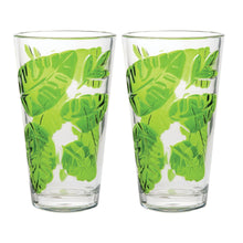 Load image into Gallery viewer, Gourmet Art 2-Piece Tropical Leaves Acrylic DOF Tumbler, 24 oz.