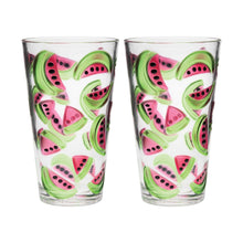 Load image into Gallery viewer, Gourmet Art 2-Piece Watermelons Acrylic DOF Tumbler, 24 oz.