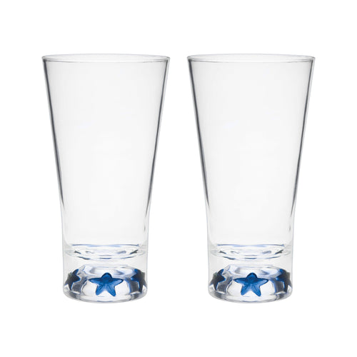 Gourmet Art 2-Piece Blue Star Acrylic DOF Tumbler, 19 oz.