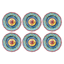 Load image into Gallery viewer, Gourmet Art 6-Piece Fiesta Floral Melamine 8 3/4 Plate