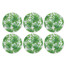 Load image into Gallery viewer, Gourmet Art 6-Piece Monstera Melamine 11 Plate