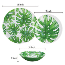 Load image into Gallery viewer, Gourmet Art 6-Piece Monstera Melamine 9 Plate