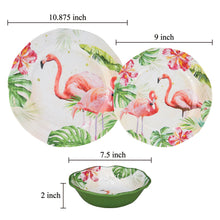 Load image into Gallery viewer, Gourmet Art 6-Piece Flamingo Melamine 9 Plate