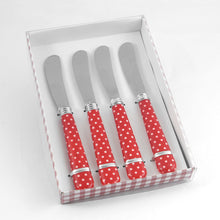 Load image into Gallery viewer, Gourmet Art 4-Piece Dots Cheese Spreader