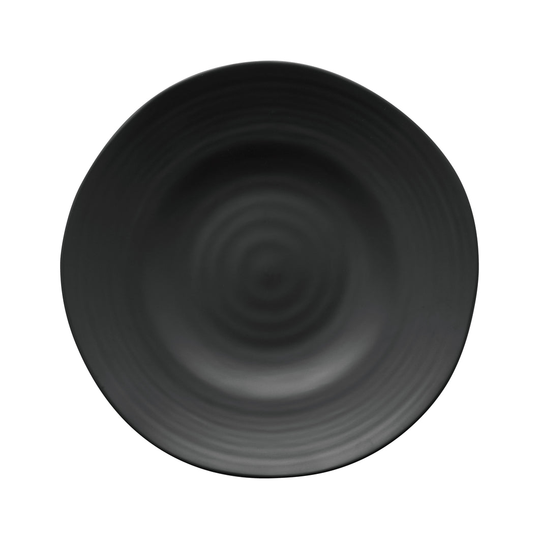 Gourmet Art 6-Piece Black Satin Melamine 8 7/8