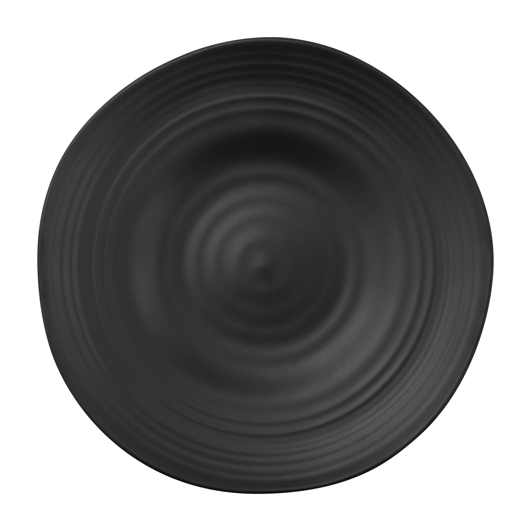 Gourmet Art 6-Piece Black Satin Melamine 10 7/8