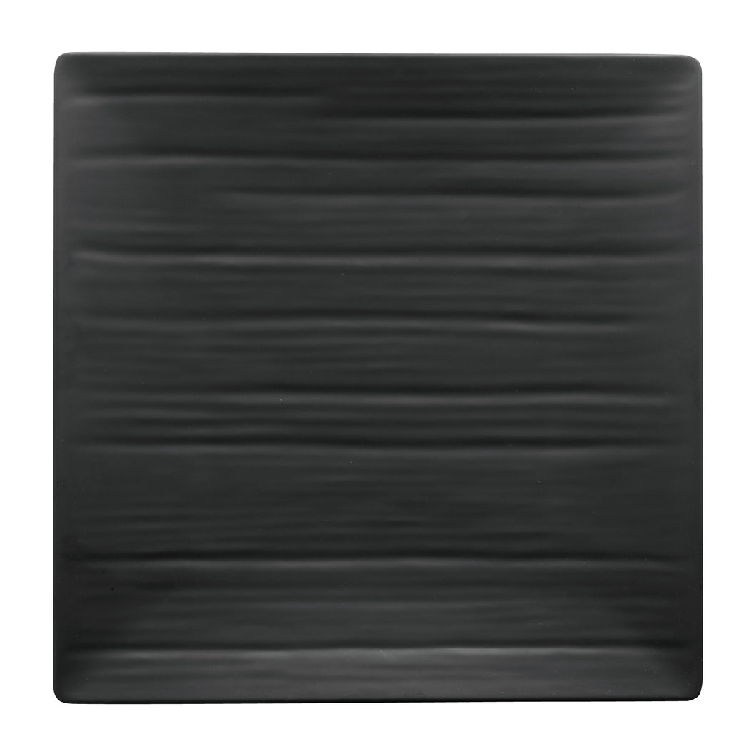 Gourmet Art 6-Piece Black Satin Melamine 10 3/4