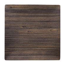 "Load image into Gallery viewer, Gourmet Art 6-Piece Natural Teak Melamine 10 3/4"" Square Plate"