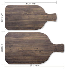 "Load image into Gallery viewer, Gourmet Art Natural Teak Melamine 18"" Serving Paddle Board"