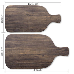 "Gourmet Art Natural Teak Melamine 18"" Serving Paddle Board"