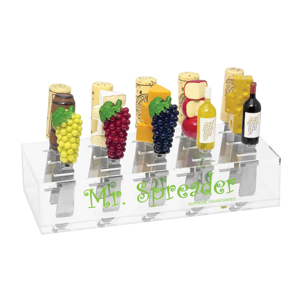Mr. Spreader Acrylic 15-Slot Cheese Spreader Display