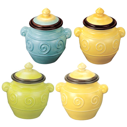 Gourmet Art 4-Piece Sol Ceramic Spice Jar