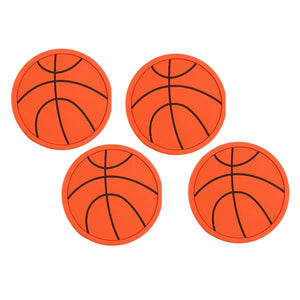 Gourmet Art 4-Piece Basketball Plastic Coaster