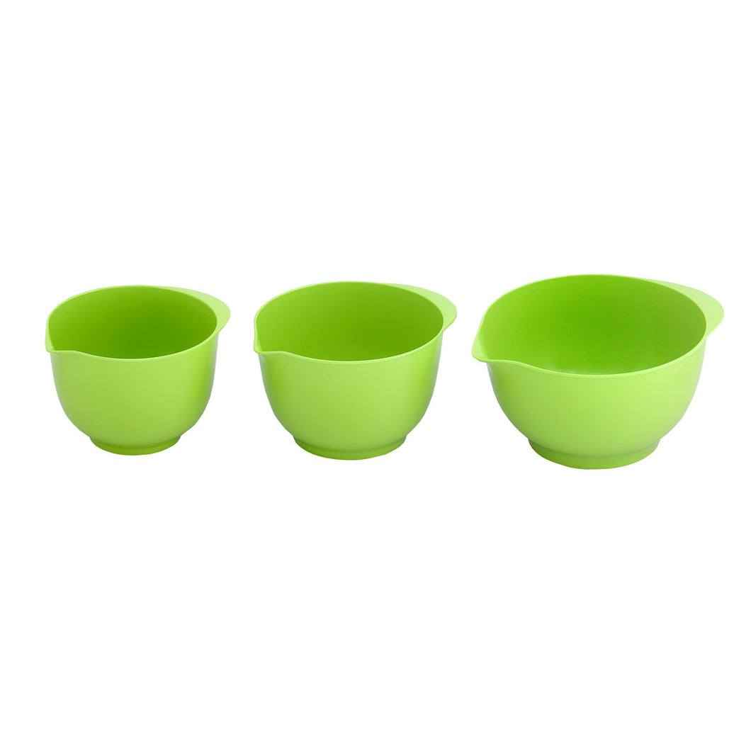 Gourmet Art 3-Piece Melamine Nesting Bowl, Green