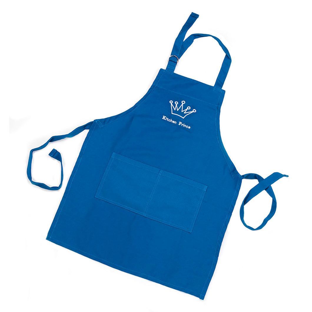 Gourmet Art Kitchen Prince Kids Apron, Blue