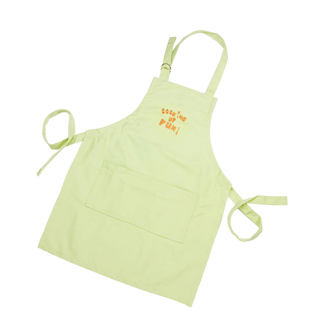 Gourmet Art Cooking Up Fun Kids Apron, Green