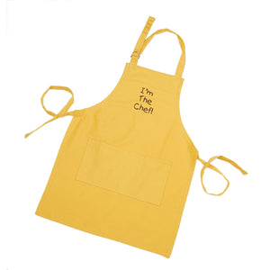Gourmet Art I'm The Chef Kids Apron, Yellow