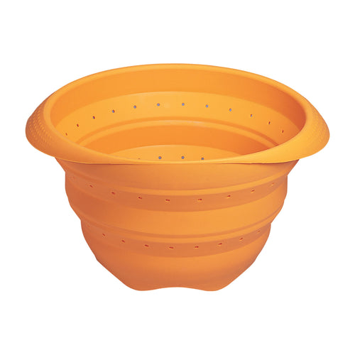 Orange 4 QT Collapsible Strainer