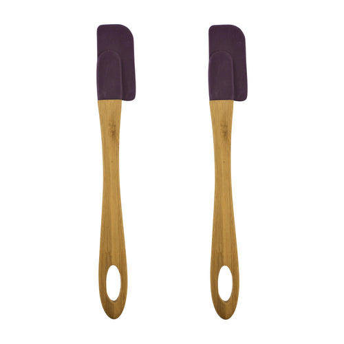 Gourmet Art 2-Piece Silicone Small Spatula, Purple