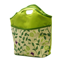 Load image into Gallery viewer, Gourmet Art Lunch Tote, Green Leaves