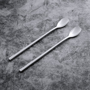 Supreme Stainless Steel 2-Piece Round Handle Ice Tea Spoon