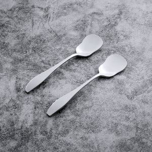 Supreme Stainless Steel 2-Piece Square-Off Oval Edge Yogurt Spoon