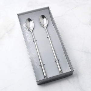 Supreme Stainless Steel 2-Piece Beveled Edge Ice Tea Spoon
