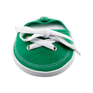 Drinkwear 2-Piece Tennis Shoe Coaster, Dark Green