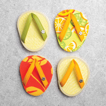 Load image into Gallery viewer, Drinkwear 4-Piece Citrus Margarita Flip Flop Coaster