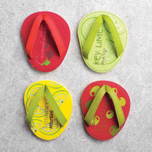 Load image into Gallery viewer, Drinkwear 4-Piece Cocktail Party Flip Flop Coaster