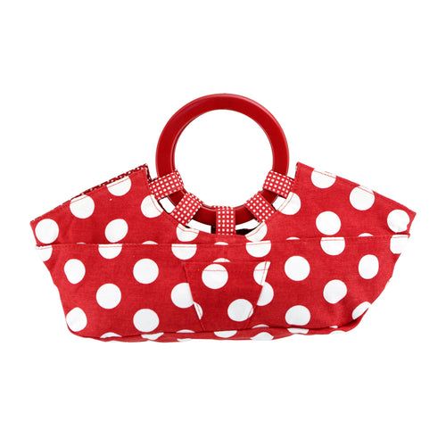 Drinkwear Red White Polka Dot Canvas Wine Tote