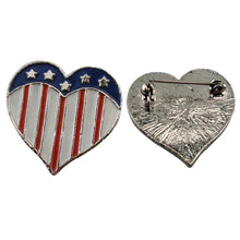 Load image into Gallery viewer, Heart Shape Flag Pendant Pin Set of 12