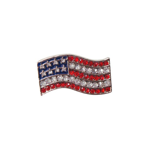 Flag with Jewels Pendant Pin Set of 12