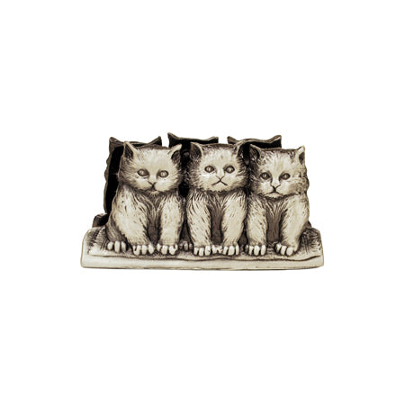 3 Kittens Business Card Holder
