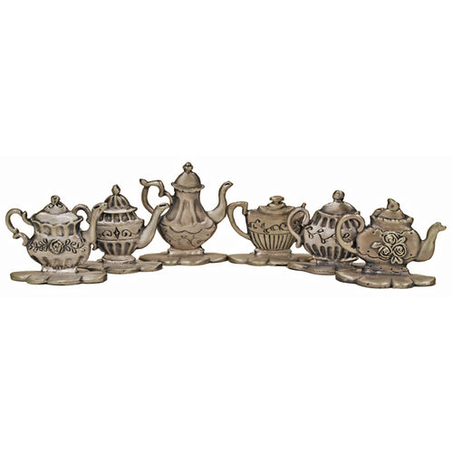 Teapot Place Card Holder Set of 6