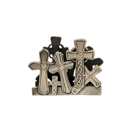Crosses Business Card Holder