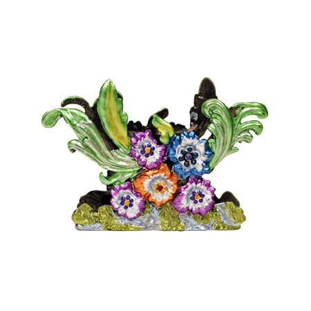Flowers Business Card Holder