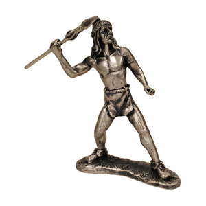 Indian Man with Spear Figurine