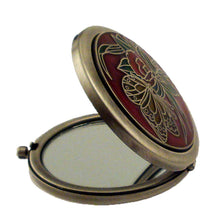 Load image into Gallery viewer, Butterfly Red Pewter Mirror, Silver