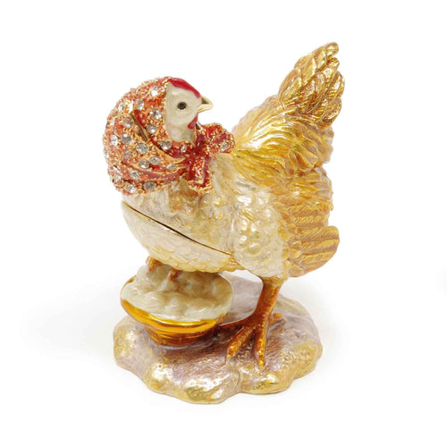 Hen with Eggs Trinket Box