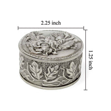 Load image into Gallery viewer, Vintage Rose Embossed Round Trinket Box